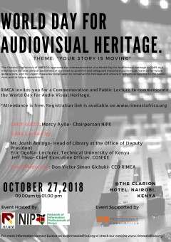CCAAA2018 World Day for Audiovisual Heritage